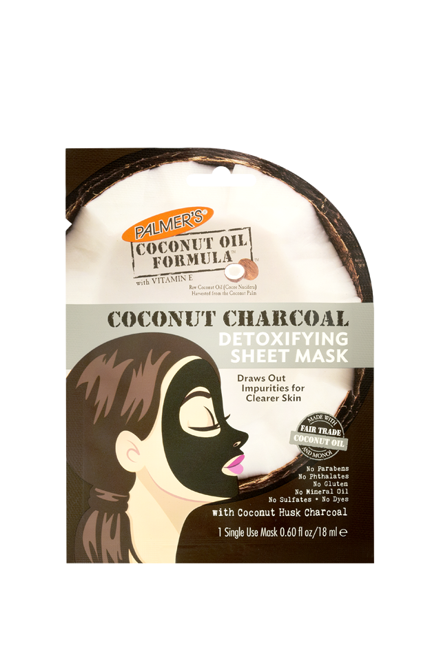 Palmer's Coconut Oil Formula Coconut Charcoal Detoxifying Facial Sheet Mask